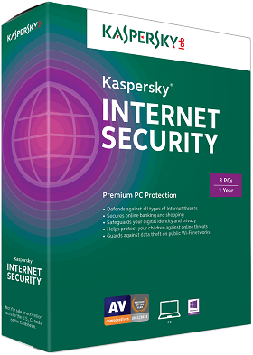 Kaspersky Internet Security 2018 dành cho 3PC (VAT 0%)