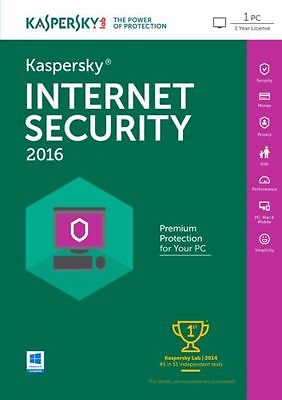 Kaspersky Internet Security 2017 dành cho 1PC