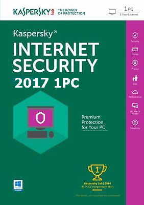 Kaspersky Internet Security 2017 dành cho 1PC (VAT 0%)